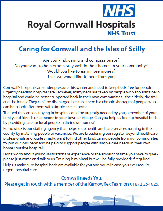 Caring for Cornwall